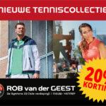 Speciale Tennisactie voor alle tennisleden